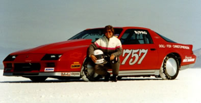 Sue at the Bonneville Salt Flats in 1997